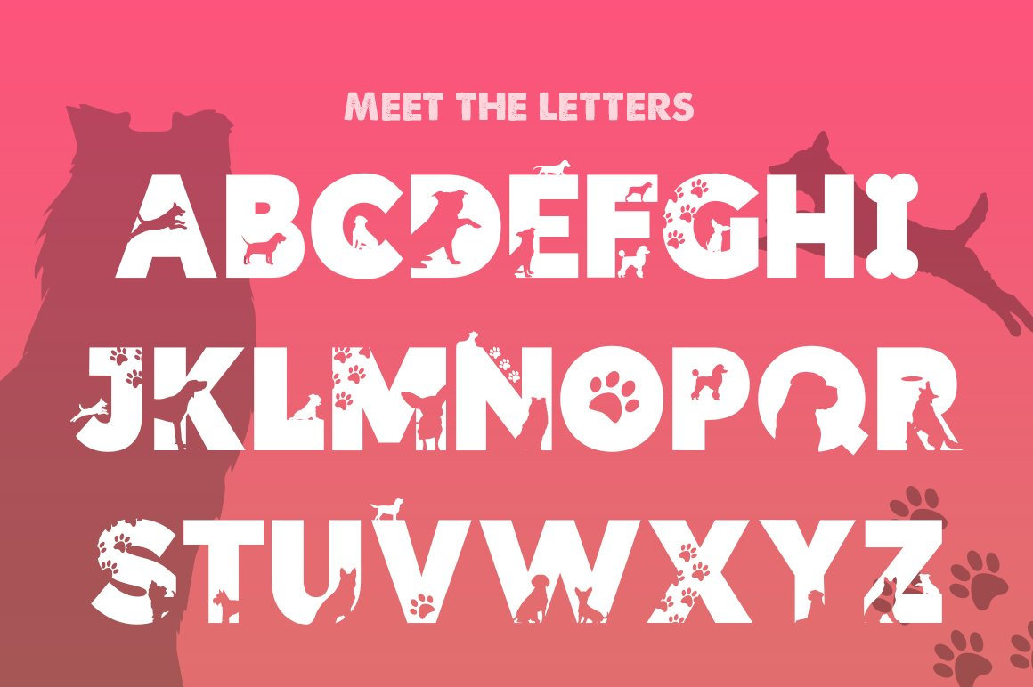 Doggies Silhouette Font example image 2