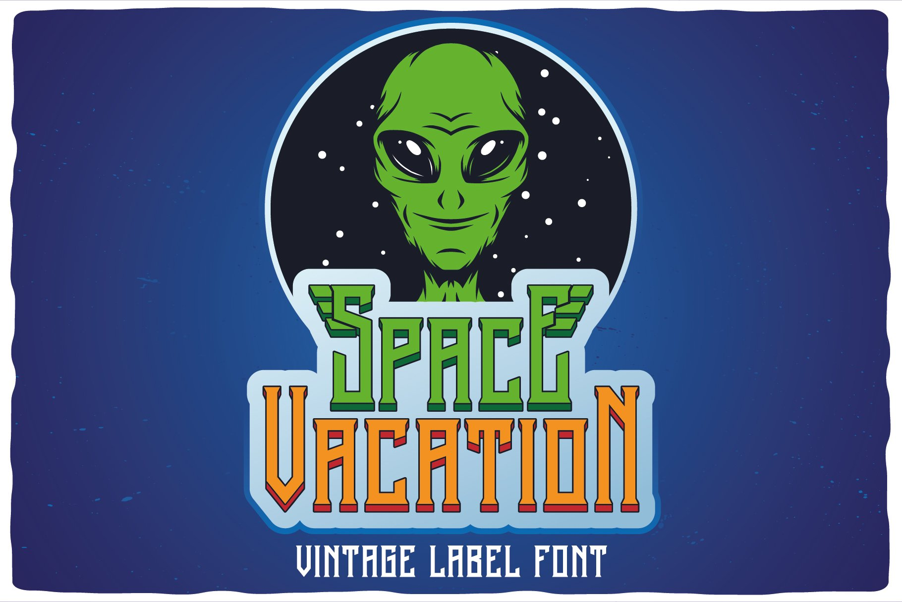 Space Vacation layered font example image 6