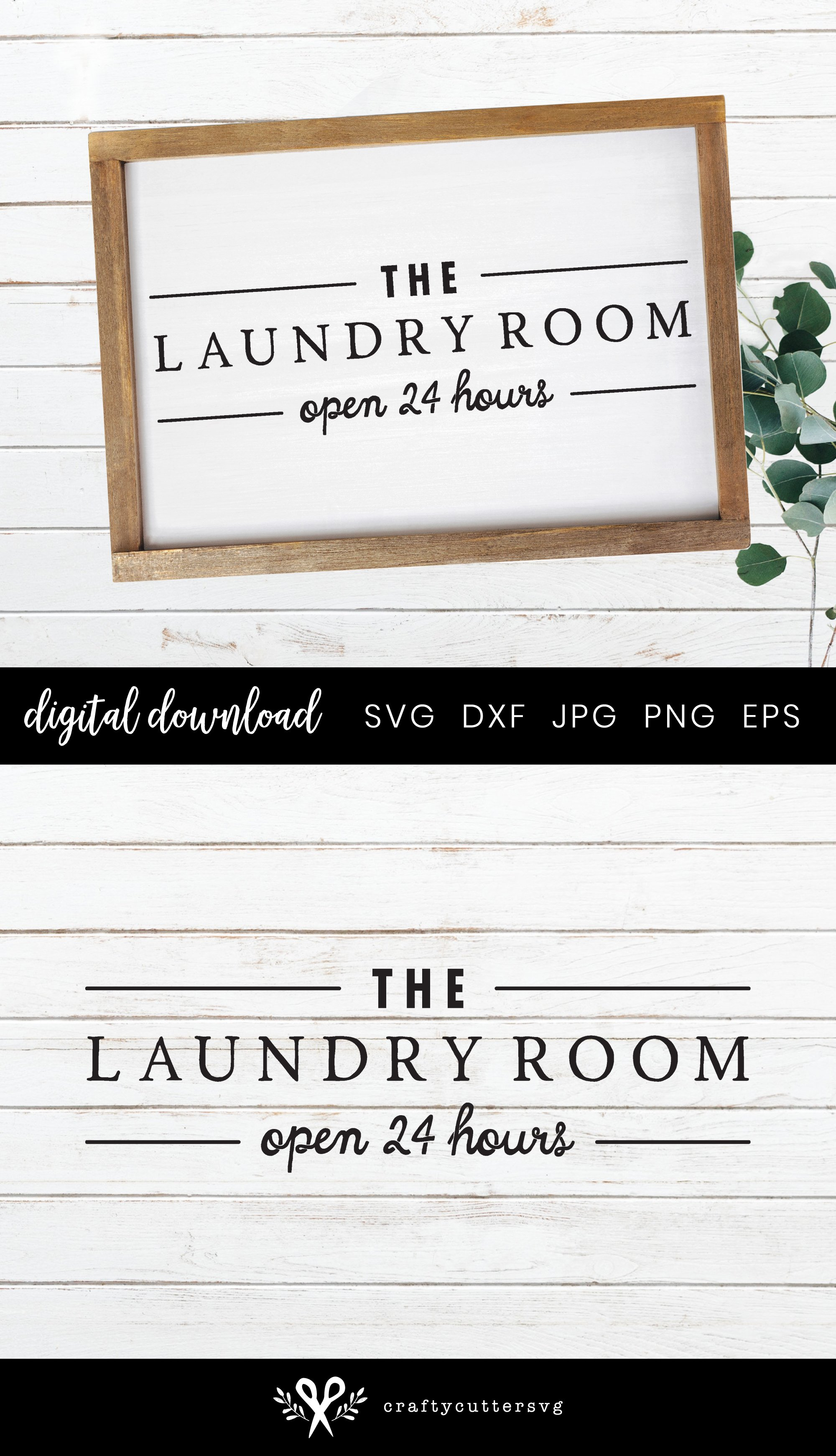 Check your Pockets Farmhouse Laundry Room Sign SVG example image 2