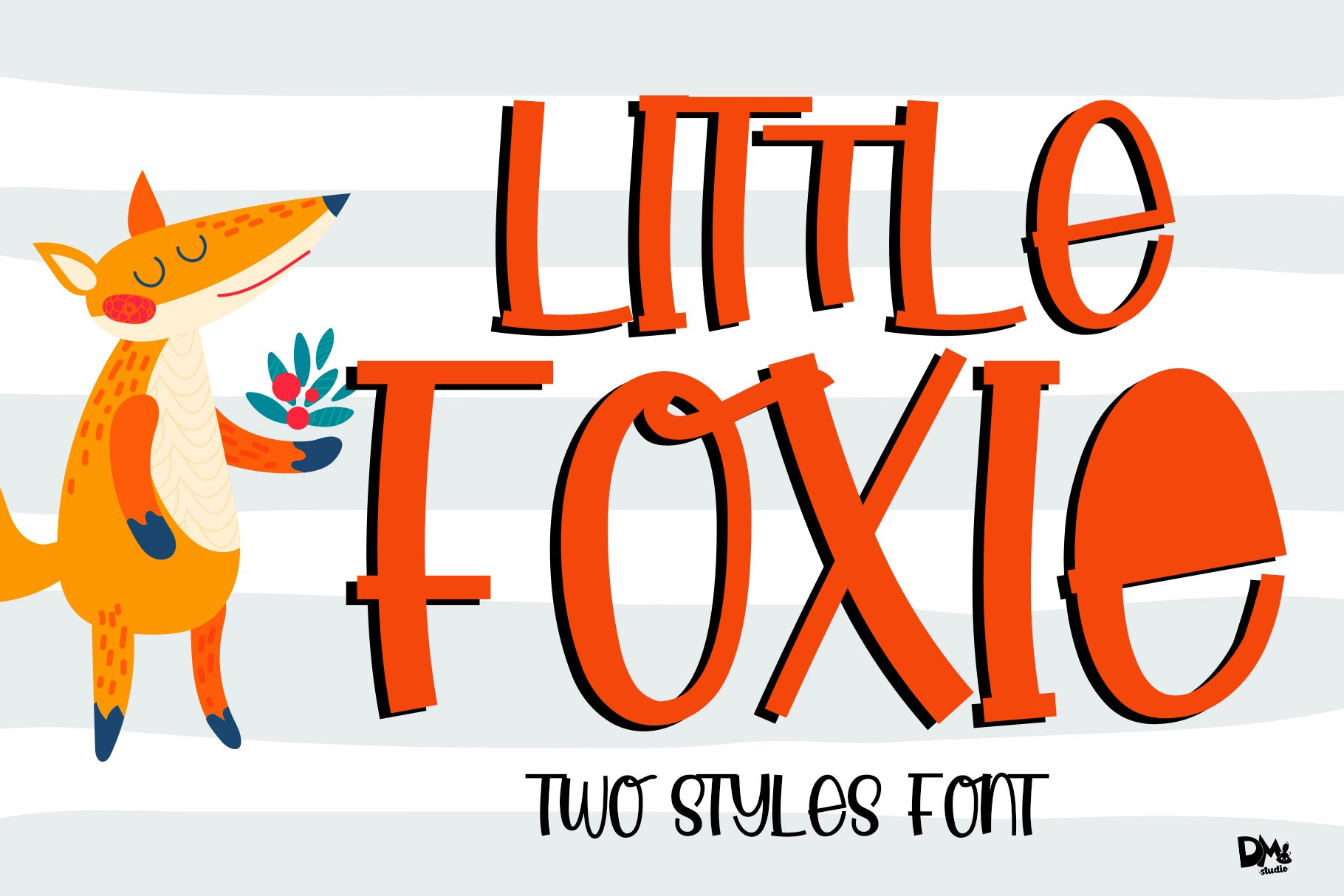 Little Foxie -- Two Styles ALL Caps Font example image 1