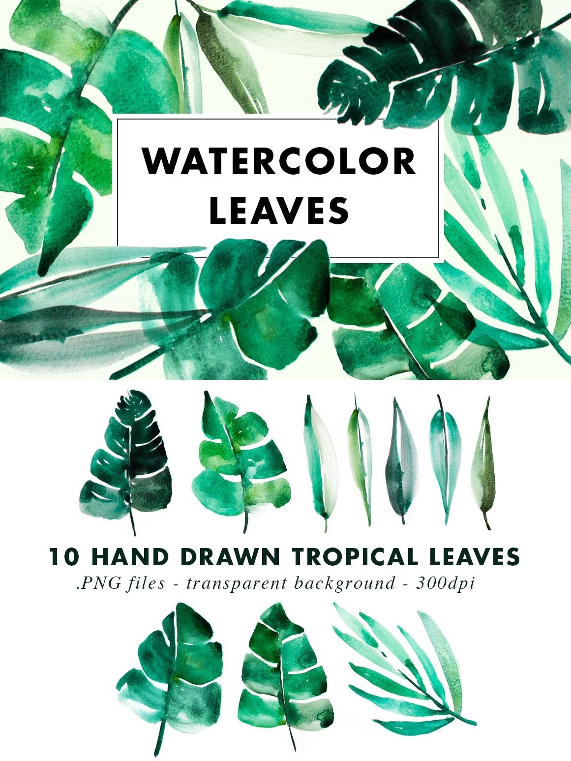 SALE | Watercolor Bundle | Best Sellers Clipart Illustration example image 22