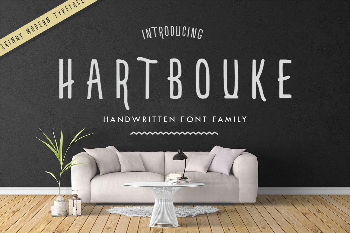 Hartbouke Skinny Font example image 1
