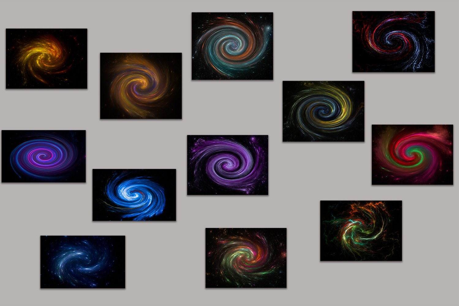 12 images - Magic swirl galaxy background . example image 1