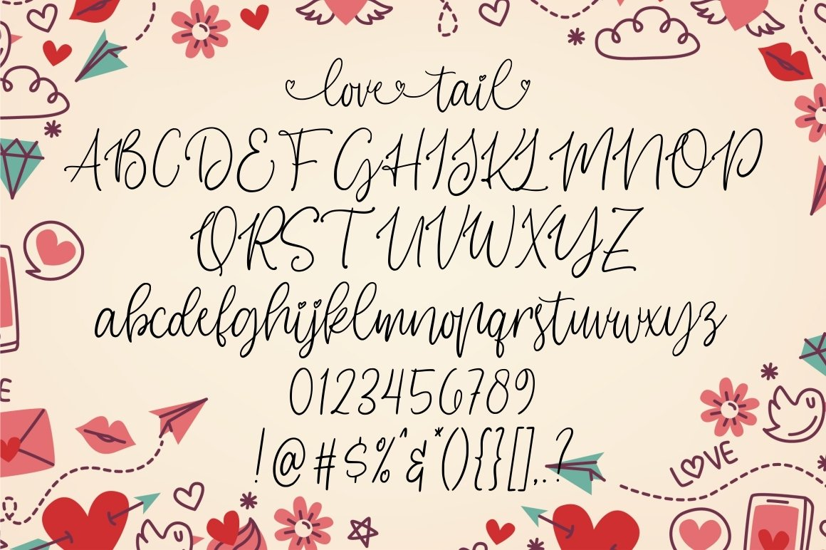 Love Tail | Lovely Font example image 7