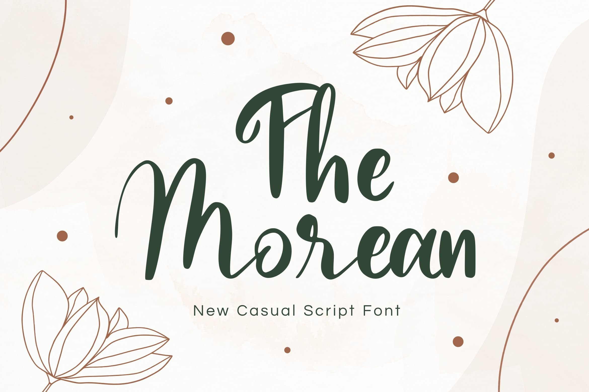 Morean Display Font example image 1