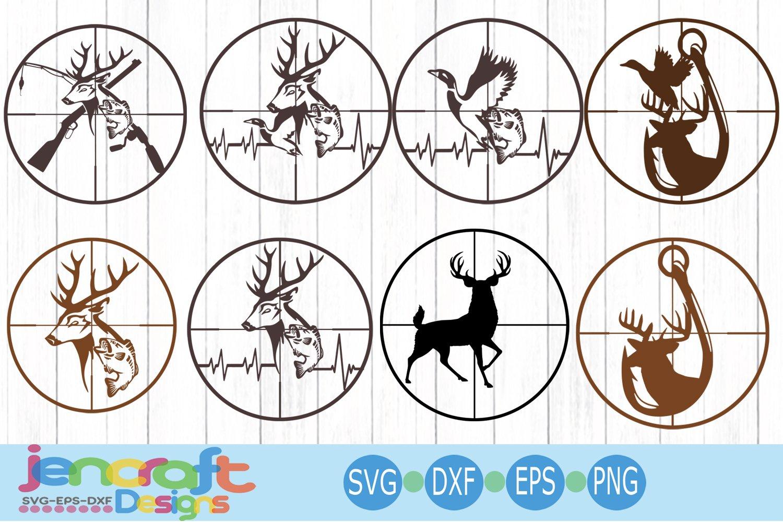 Download Cross Hairs Hunting Fishing Bundle Deer Svg Fish Svg Ekg 115748 Svgs Design Bundles