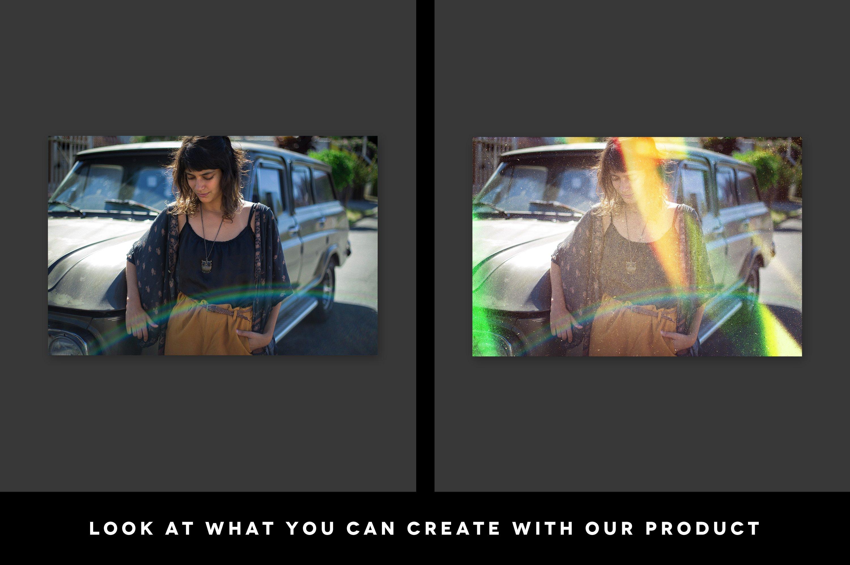 Grunge Light Leaks - Creative Vintage Overlays example image 2