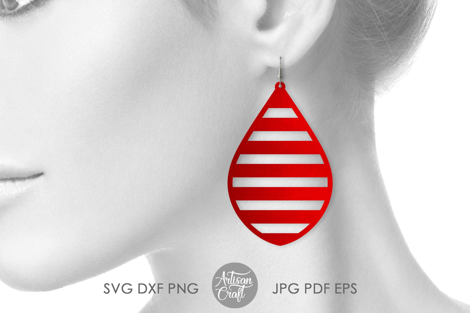 American flag earrings, Fourth of July earrings, svg example image 3