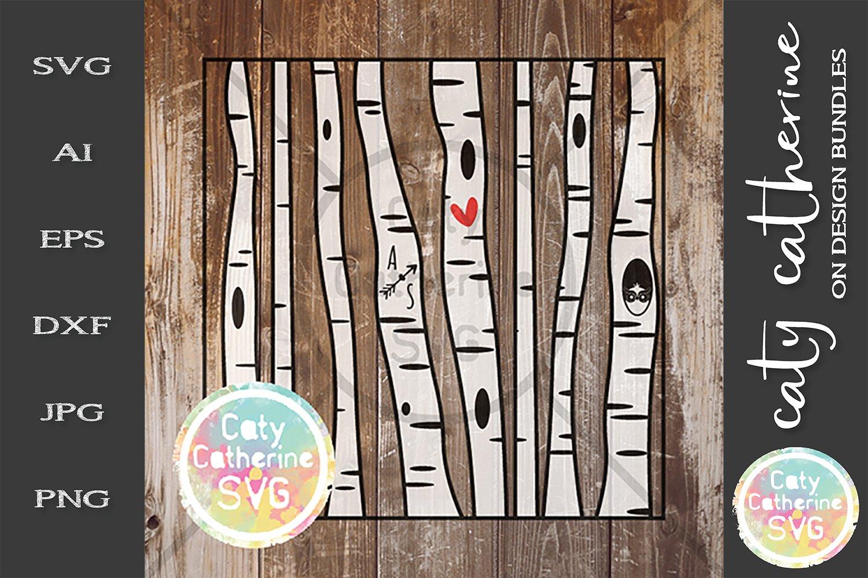 Download Editable Birch Tree Carve Initials Svg Love Heart Couple 242924 Svgs Design Bundles