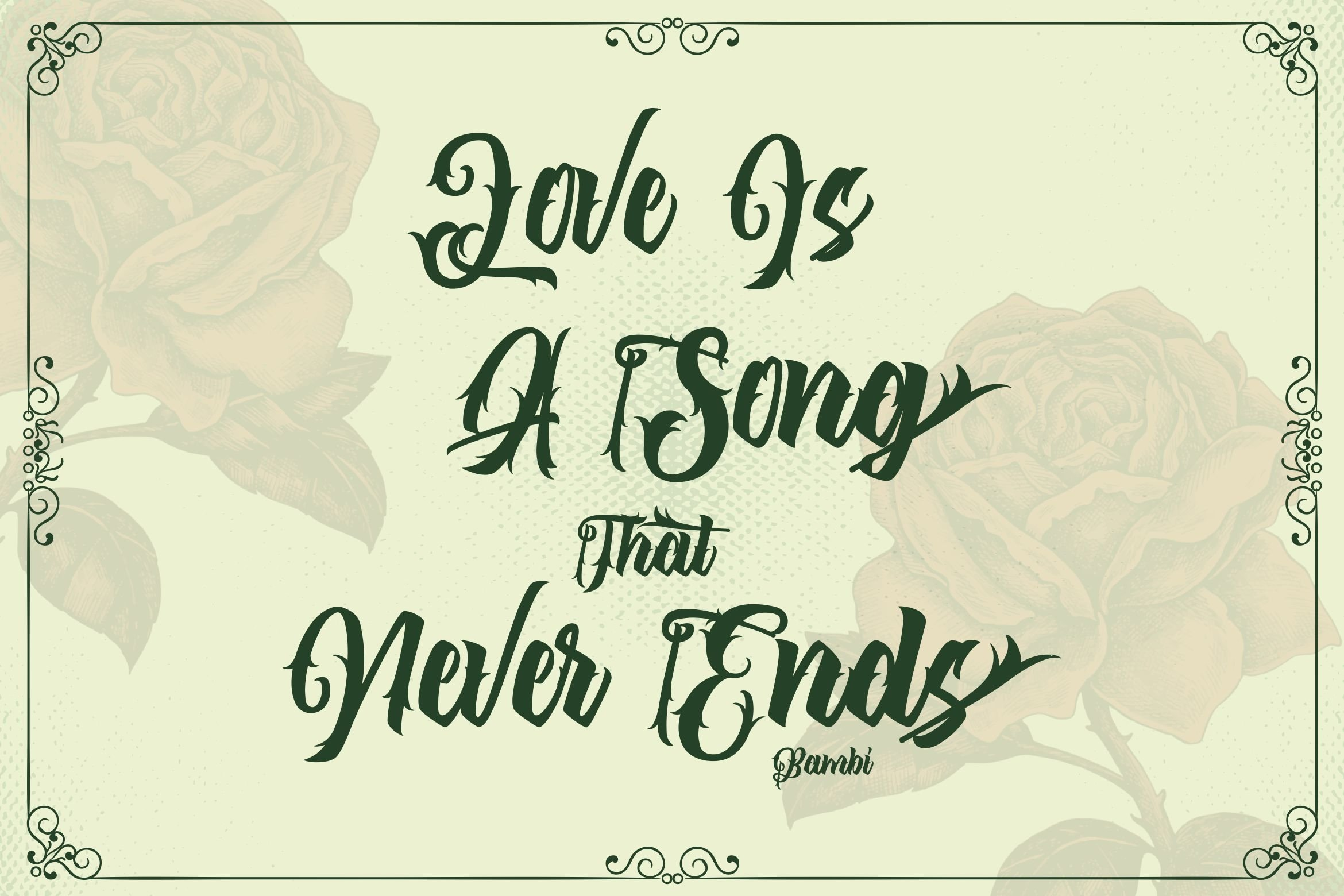 The Lastring - Tattoo Script Font example image 3