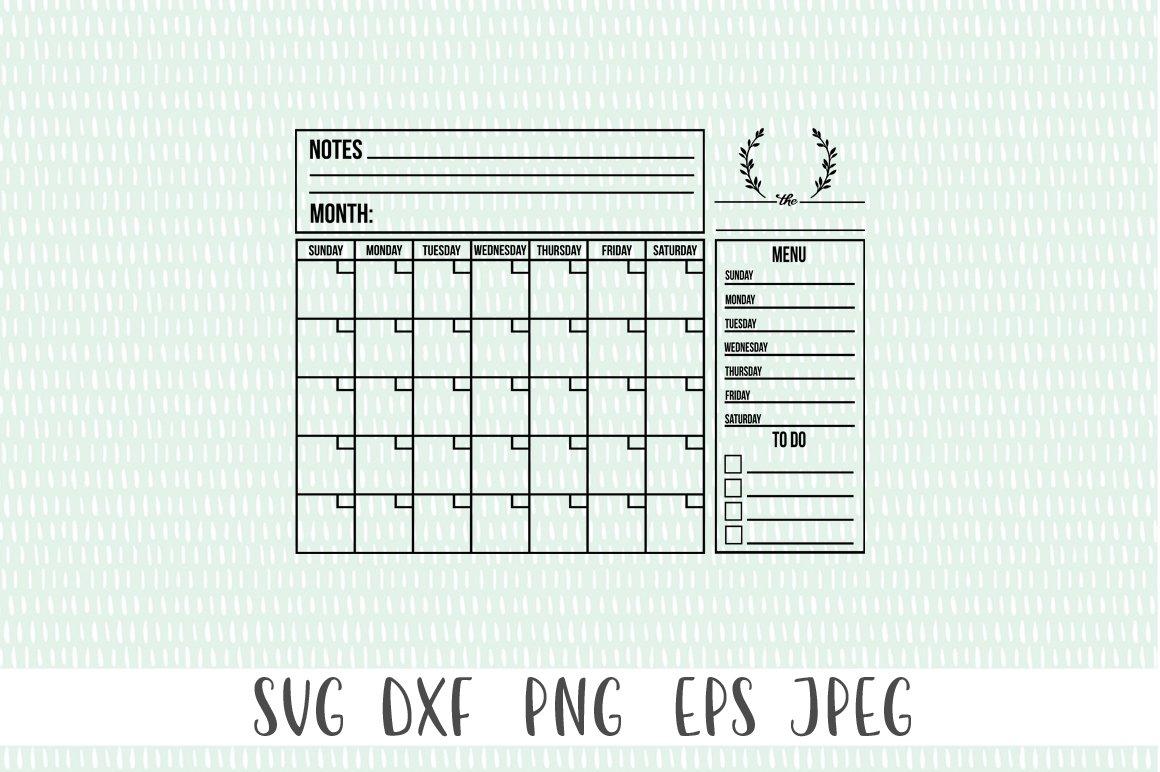 Customizable Family Calendar SVG example image 2