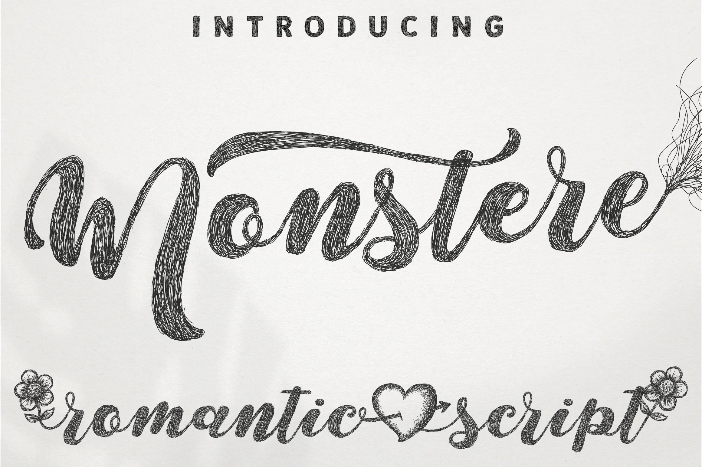 Monstere Script | Sketch Style example image 1