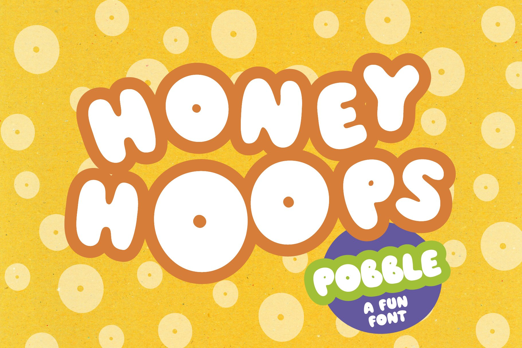 Pobble - cartoon comic style font example image 1
