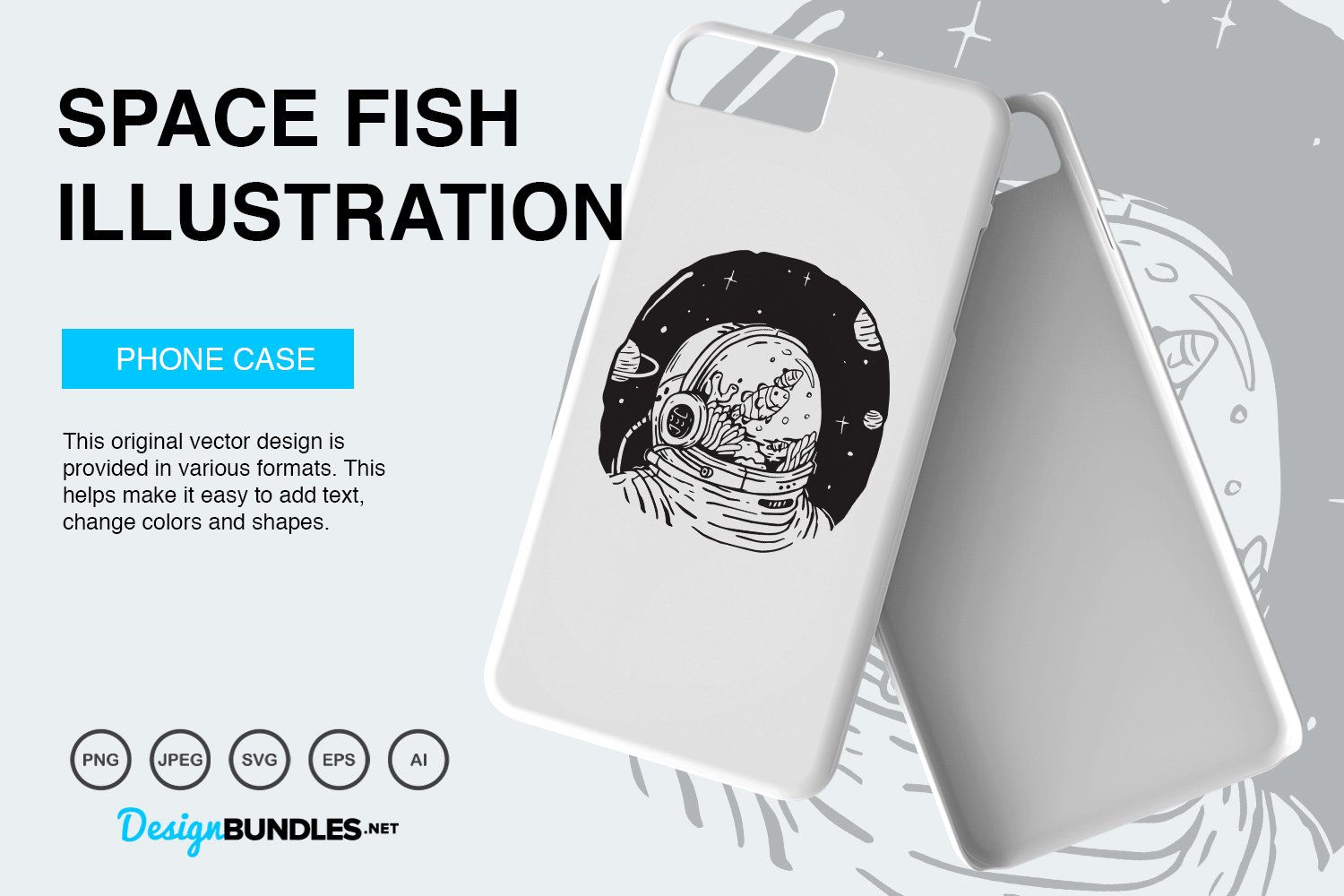 Space Fish Vector Illustration example image 5