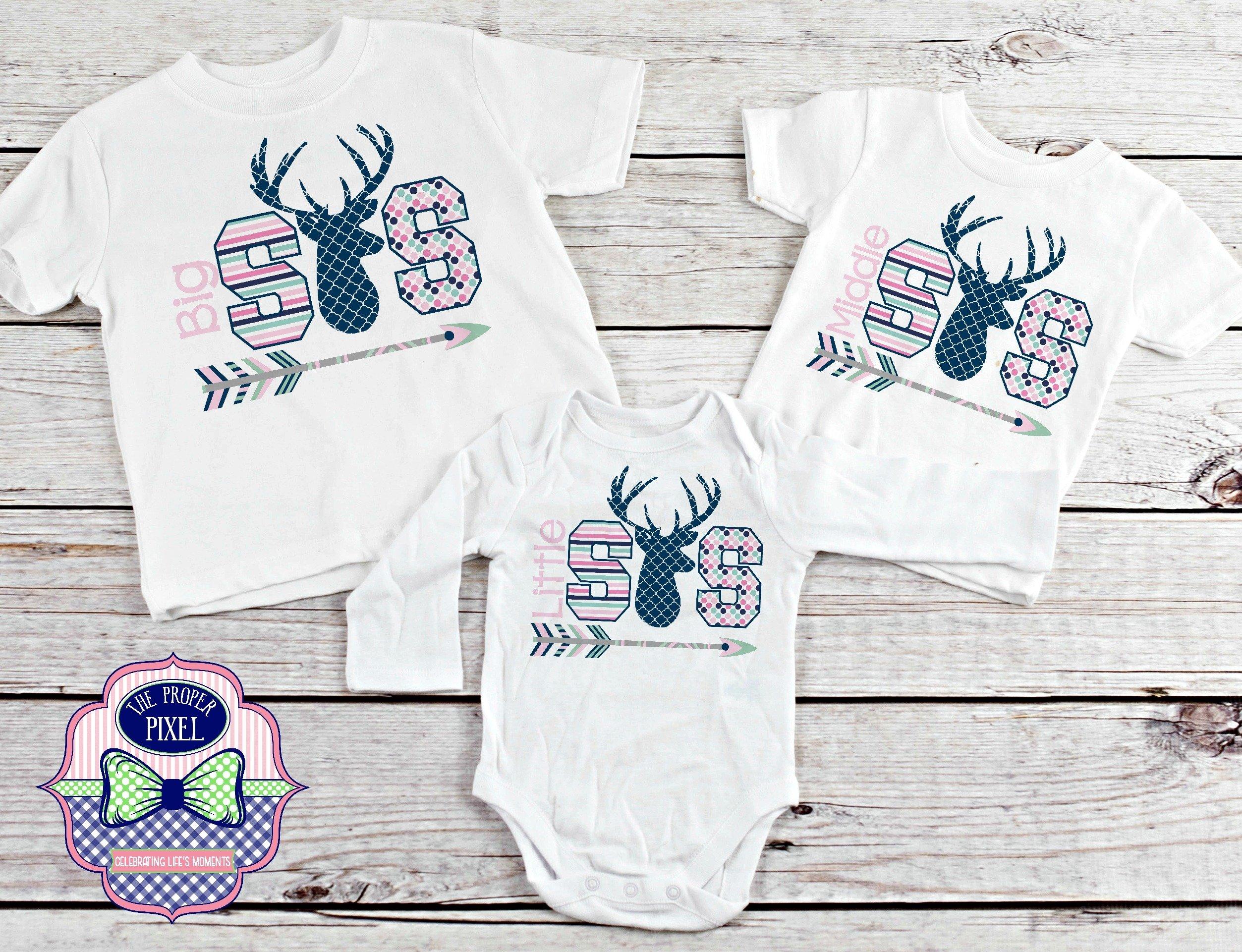 Deer Themed Big Sister Sibling Design example image 2