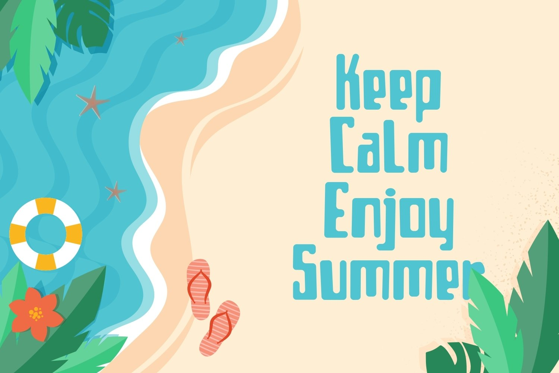 Borjue - Summer Display Font example image 2