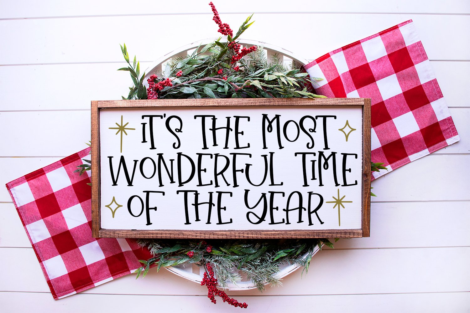 Christmas Wishes - A Christmas Handlettered Font Duo example image 3