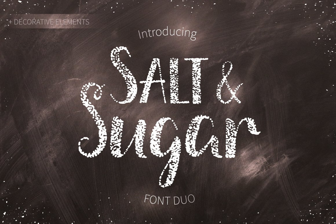 Salt & Sugar.Hand Drawn Font Duo example image 1