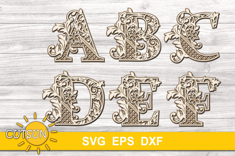 Download 3D Alphabet Layered Mandala SVG Bundle 26 letters (529537 ...