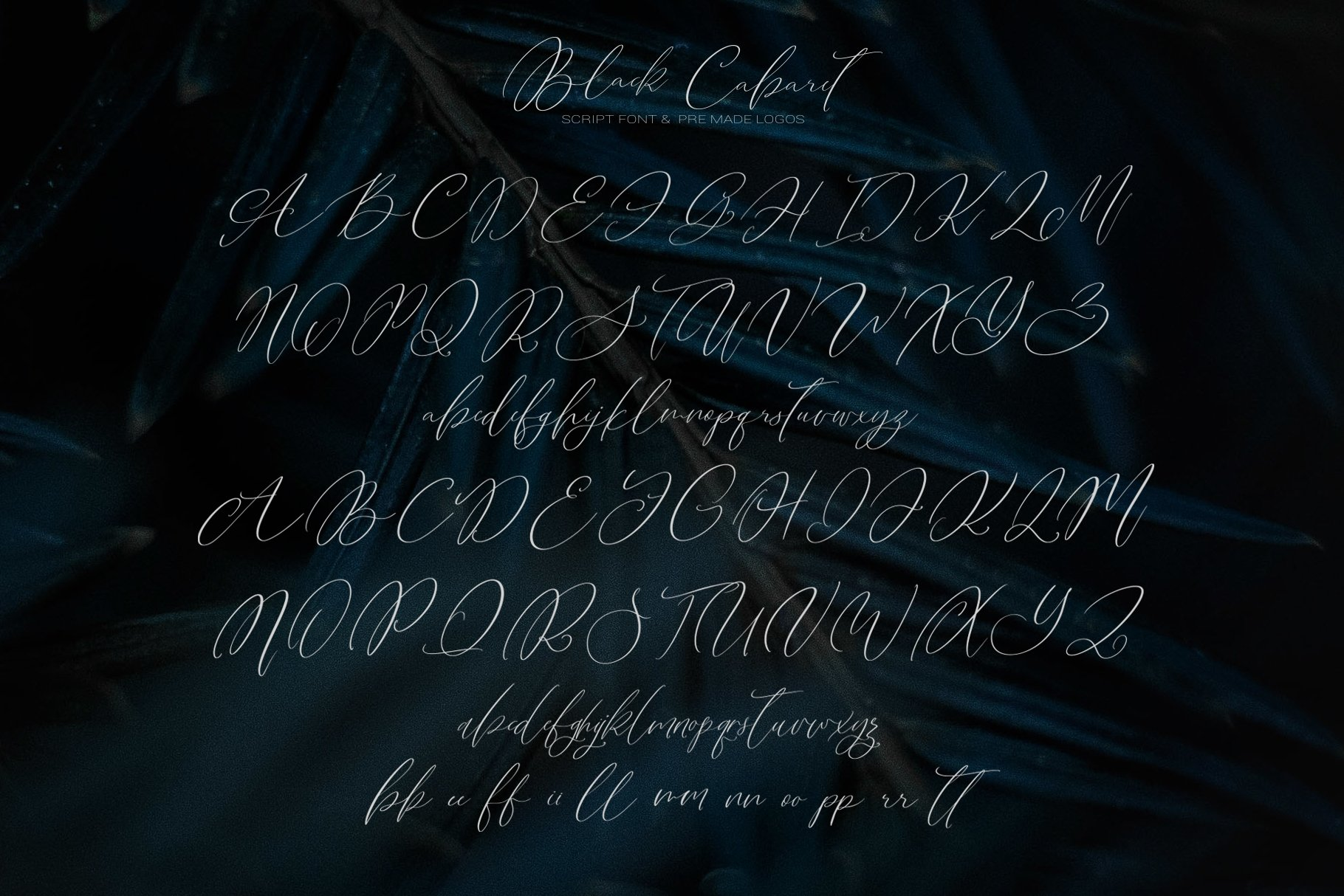 Black Cabaret Script Font & Logos example image 15