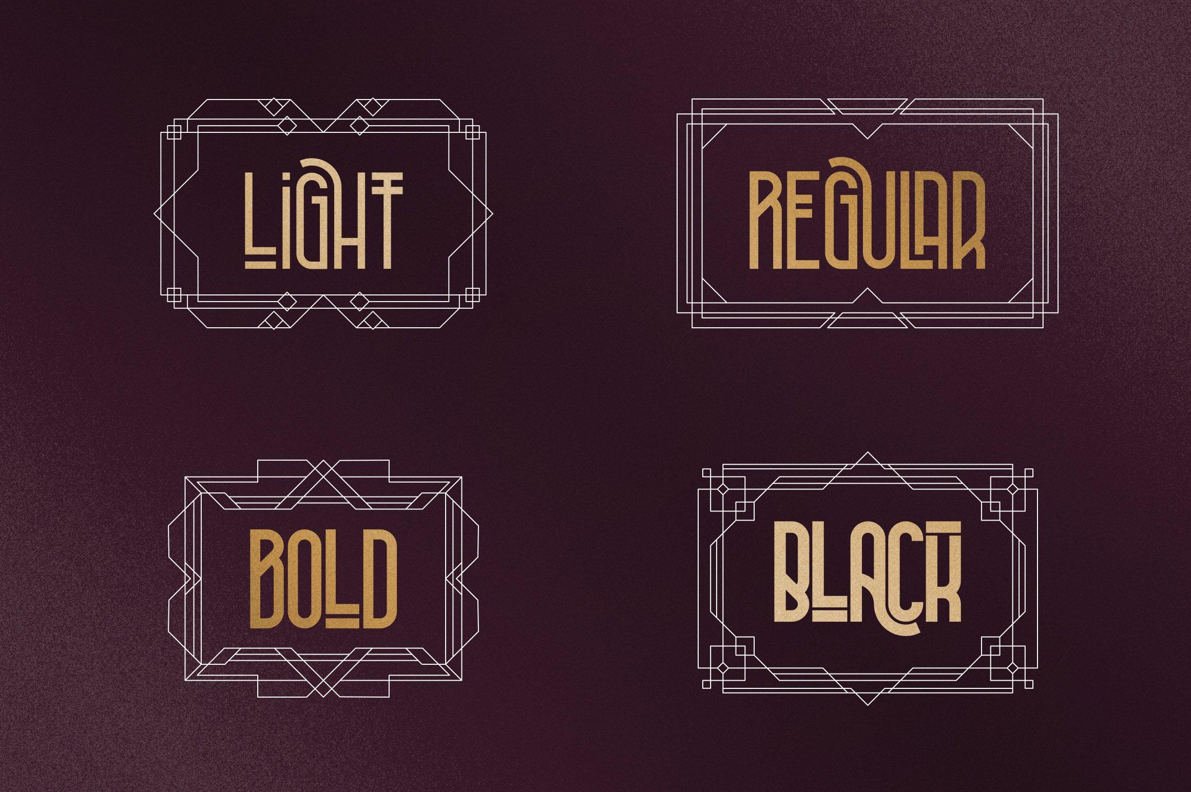 Metria Street - Art Deco Typeface example image 7