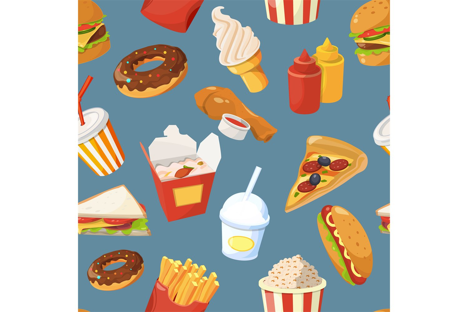 Fast Food Vector Seamless Pattern With Cold Water Sandwich 766767 Patterns Design Bundles However, when the tap is turned off, so too is the hot water supply. design bundles