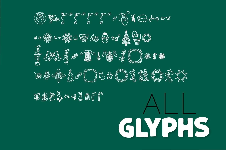 20 Christmas Fonts - A Christmas Font Bundle! example image 8
