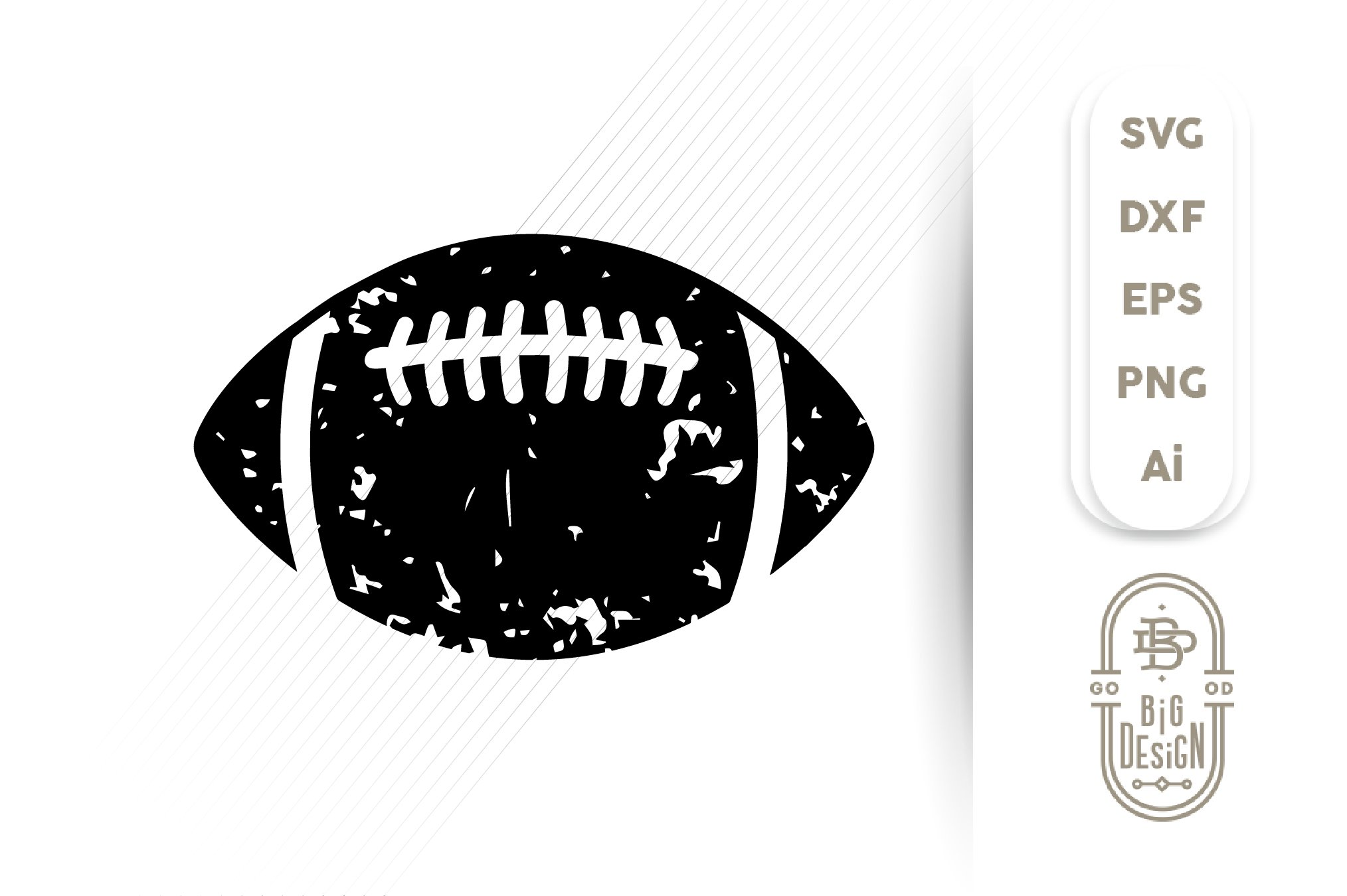 Football Svg Distressed Football Ball Silhouette Svg 372633 Svgs Design Bundles