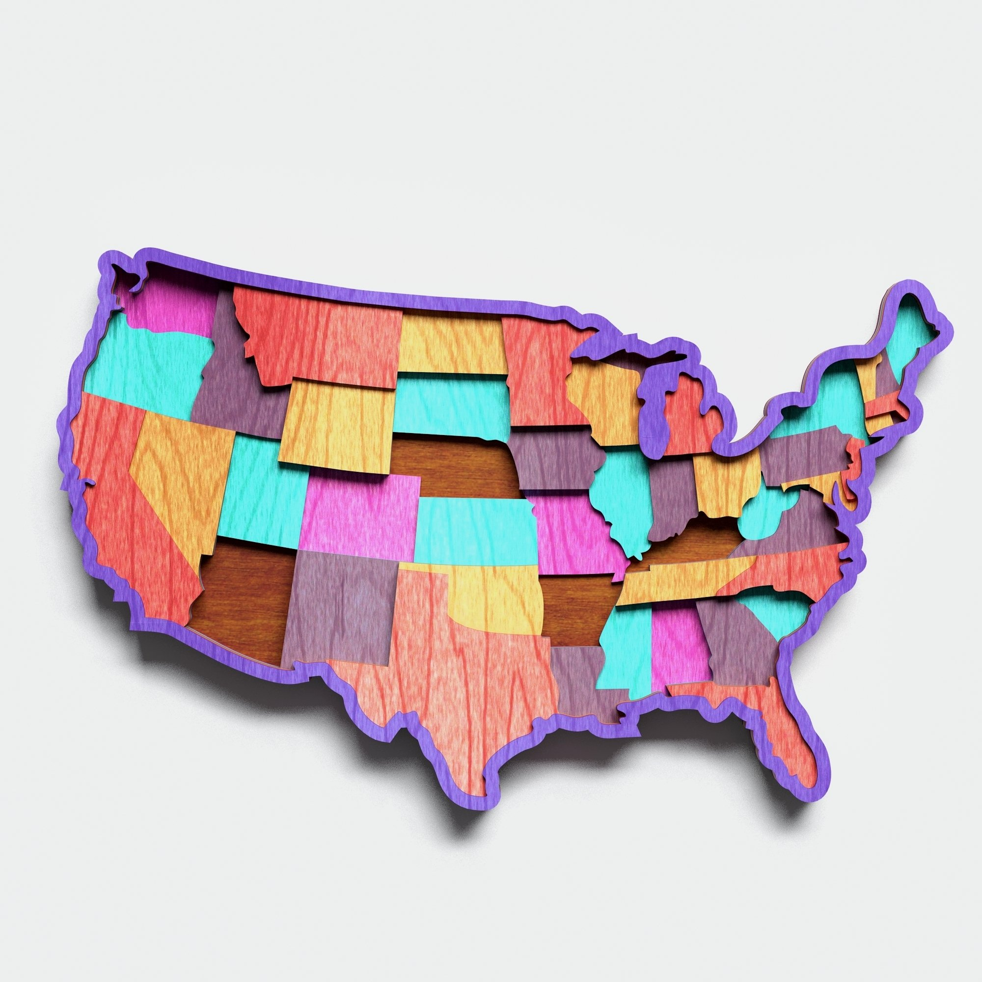 Multilayer USA Map Mandala, Vector file for cutting example image 4
