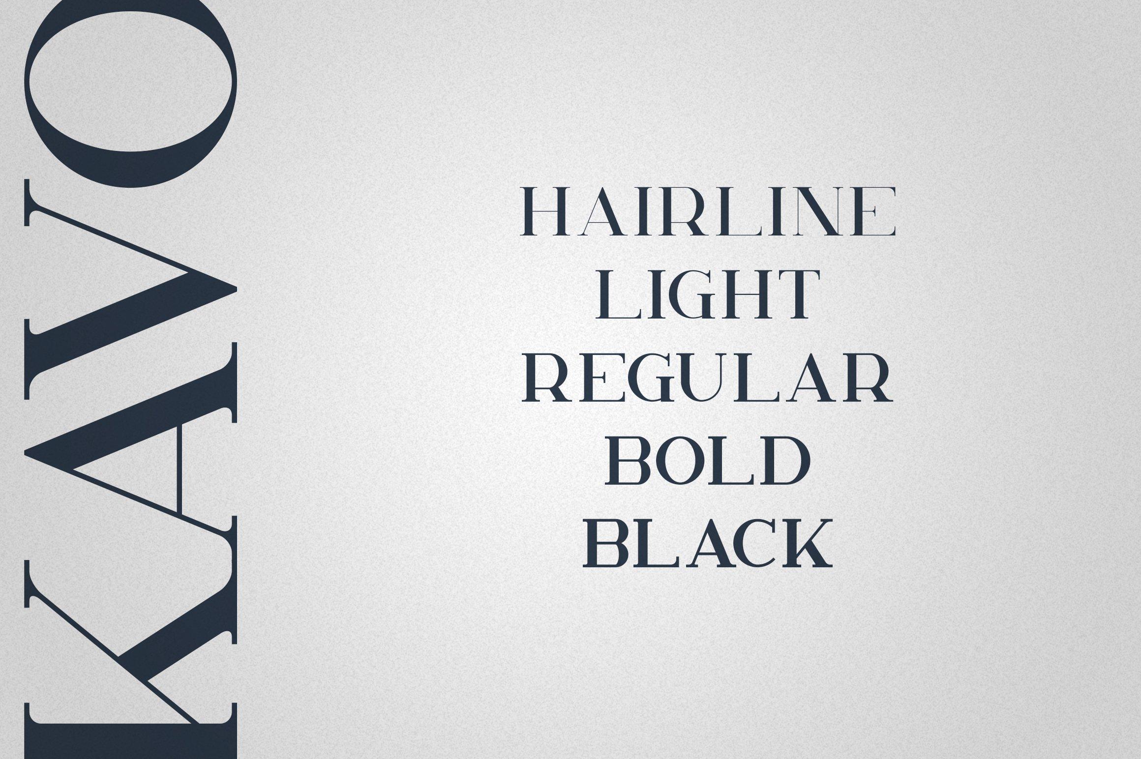 Kavo Serif Typeface | 5 weights example image 2