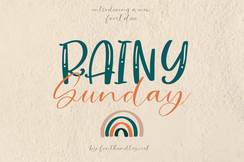 Rainy Sunday Font Duo example image 1