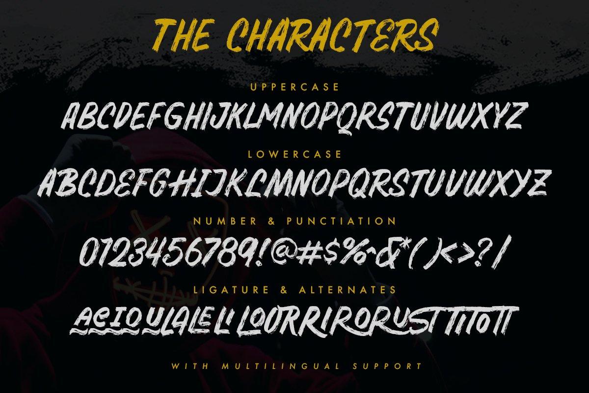 Samrose - Textured Brush Typeface example image 4