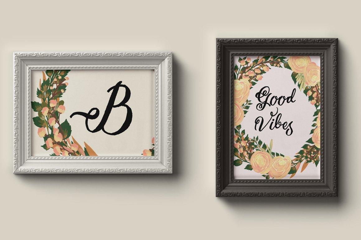 Puspita Gouache Flowers Design Set example image 6