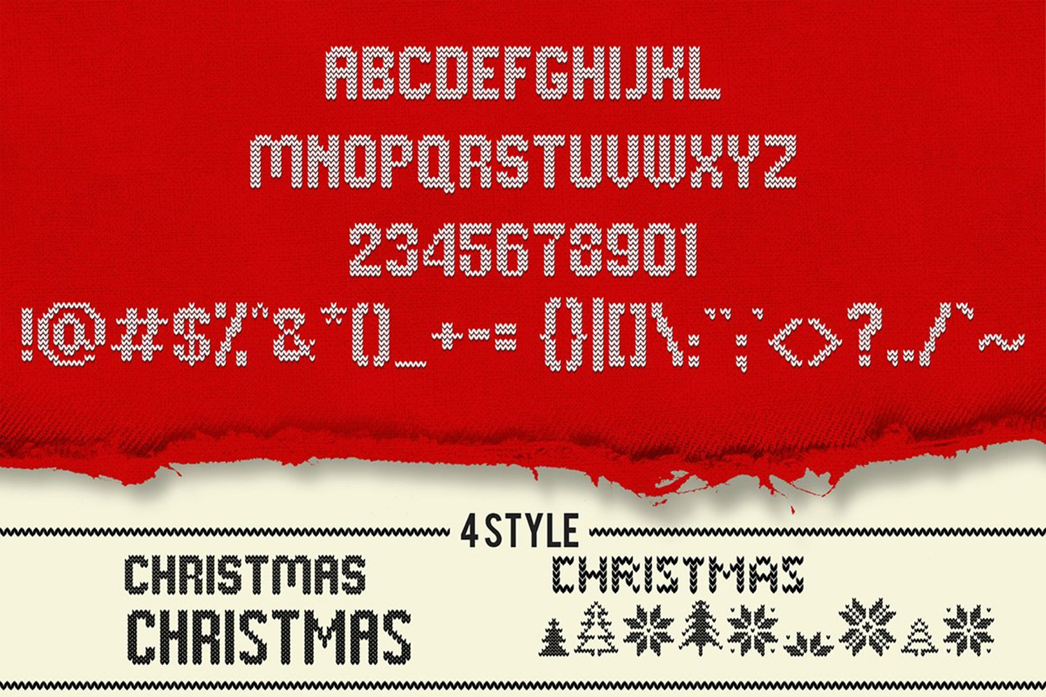 Christmas Knitted Font example image 3