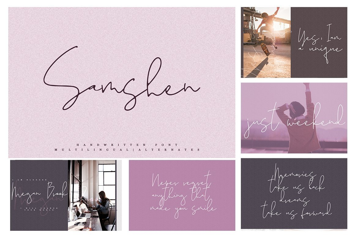 Font Bundle 70 in One example image 6