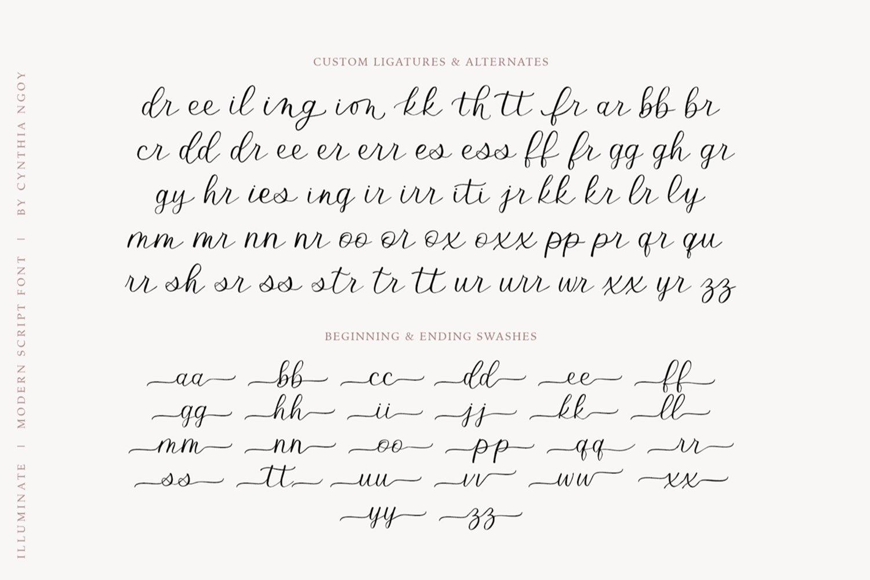 Illuminate - An Elegant and Modern Script Font example image 12