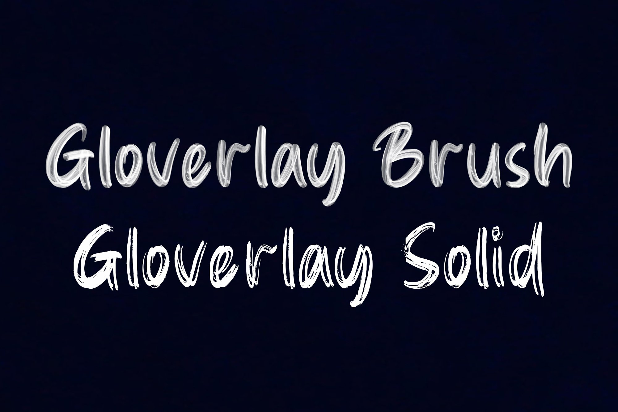 Gloverley SVG Font example image 3