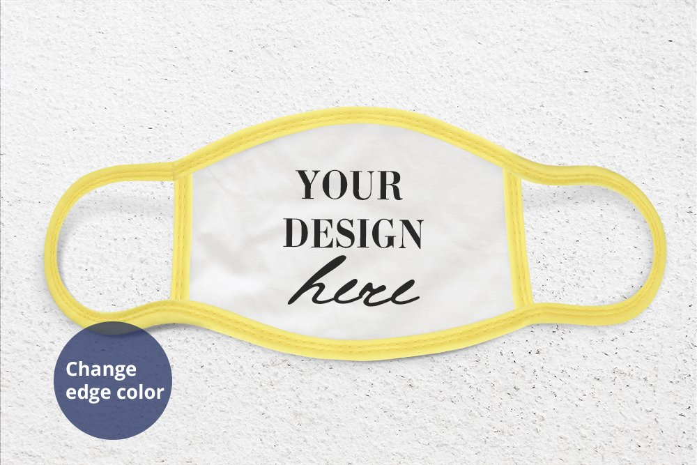 Face Mask Mockup PSD, Face cover mock up PSD & Smart Object example image 3