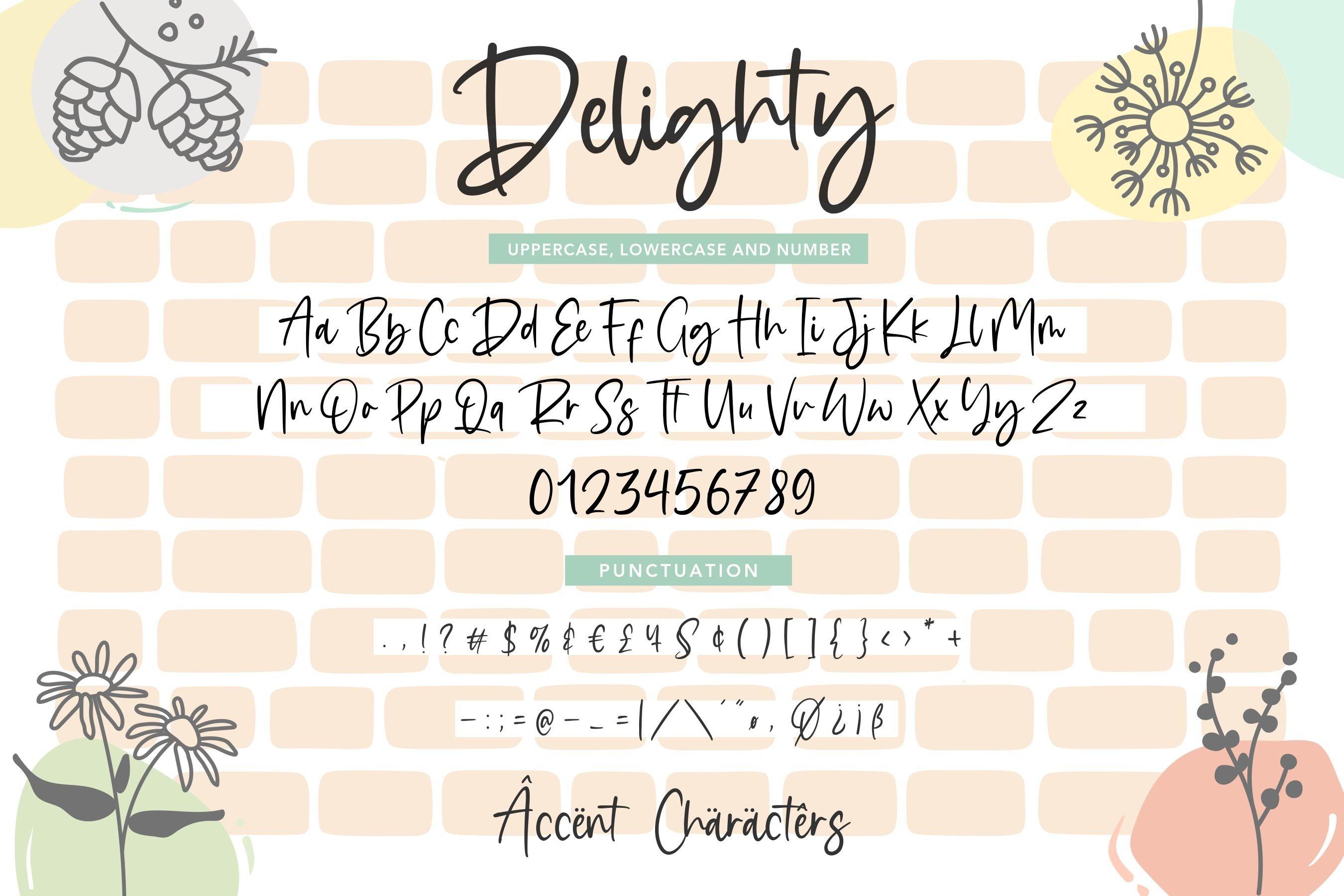 Delighty Modern Handwritten Font example image 6