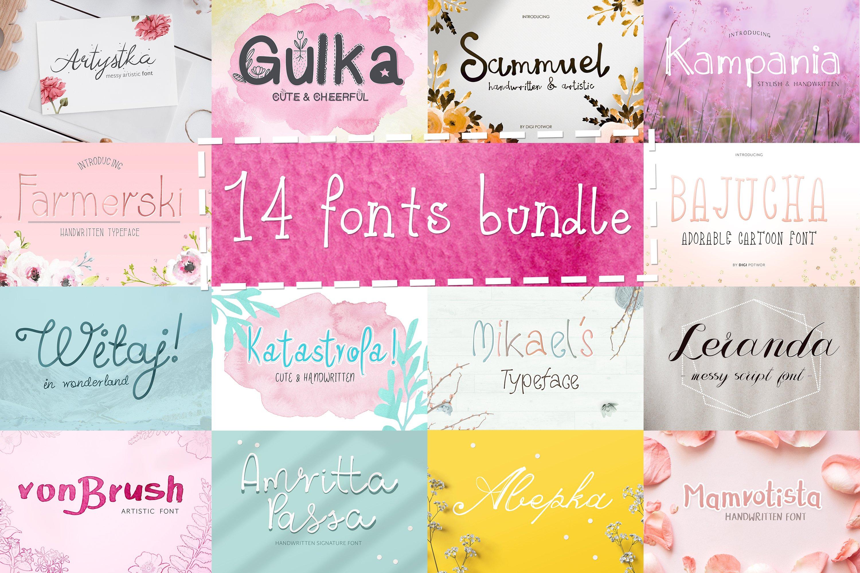 14 Fonts bundle vol.3 example image 2
