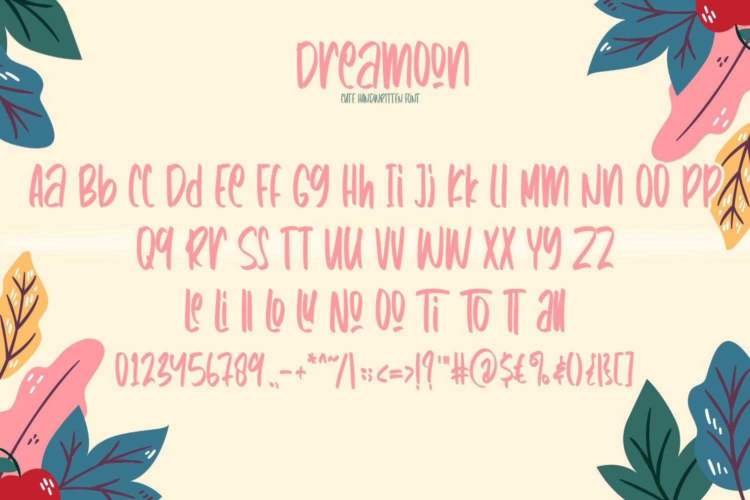 Dreamoon - Cute Fancy Fonts example image 3