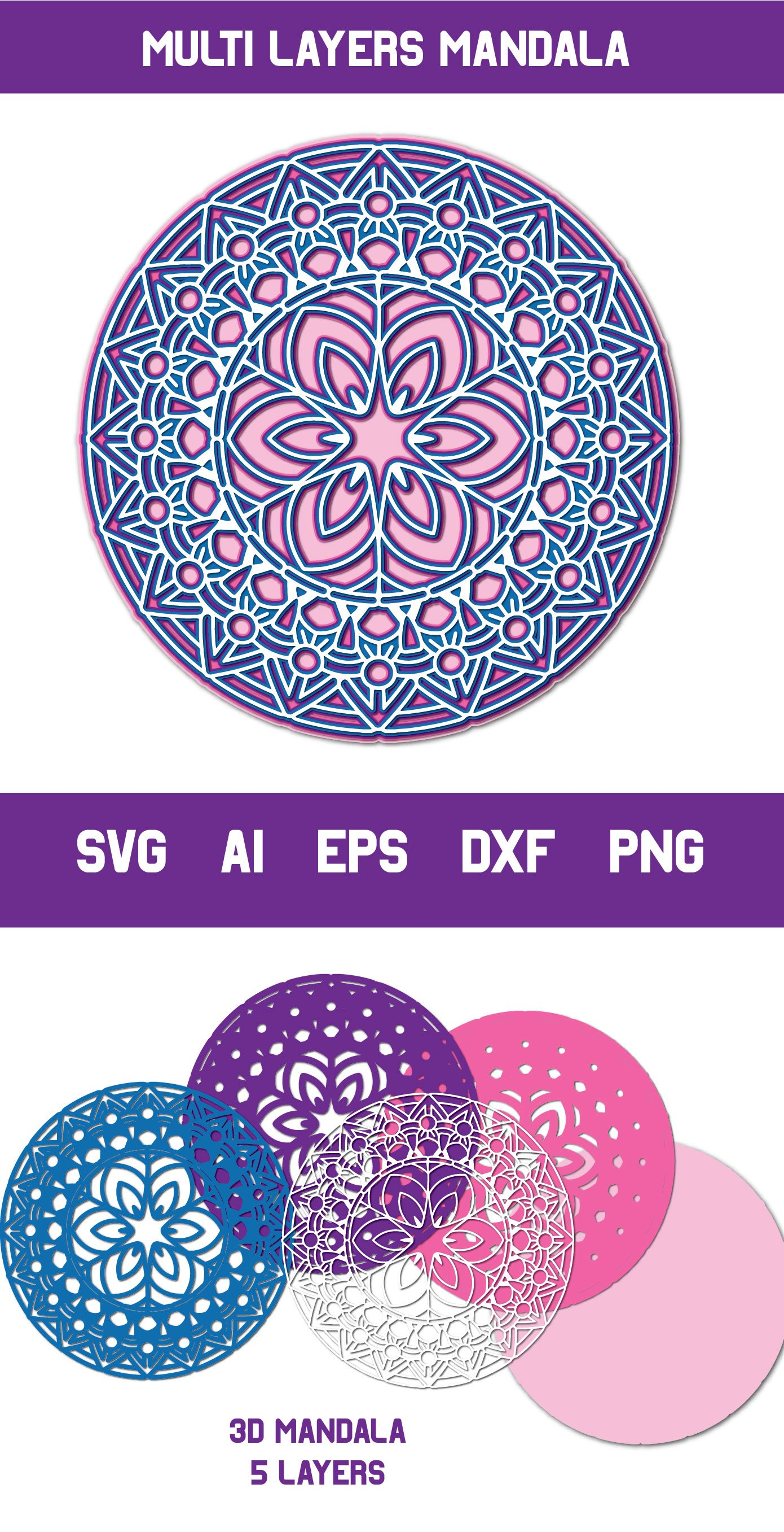 113+ 3D Mandala Svg Free – SVG,PNG,DXF,EPS include