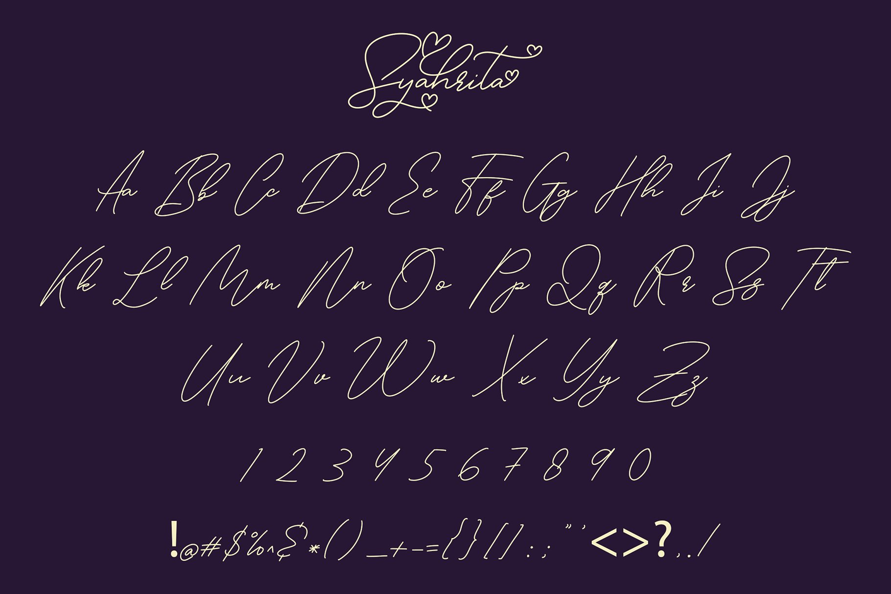 Syahrita Beautiful Romantic Font example image 5