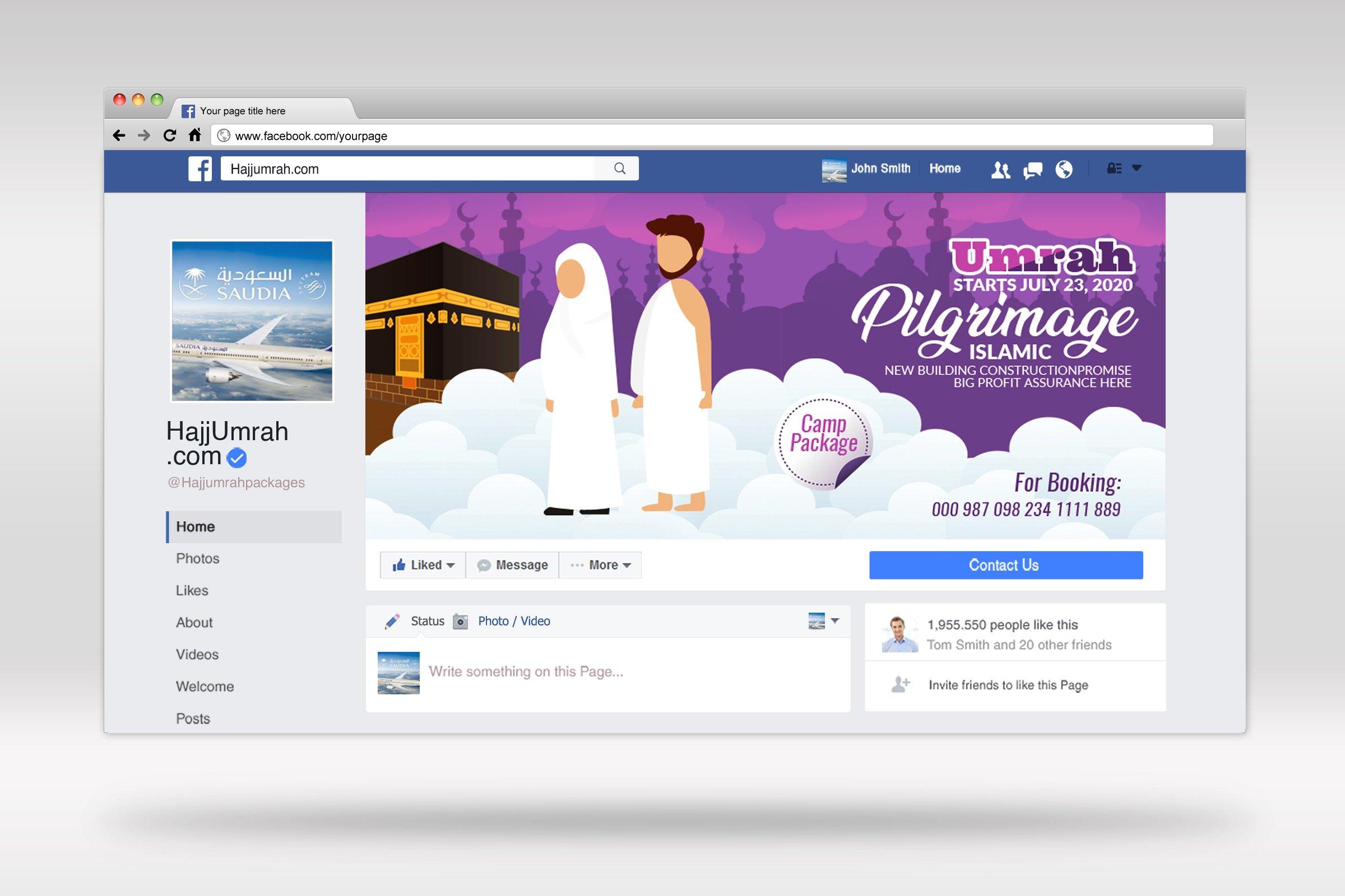 Hajj & Umrah Facbook Banner example image 2