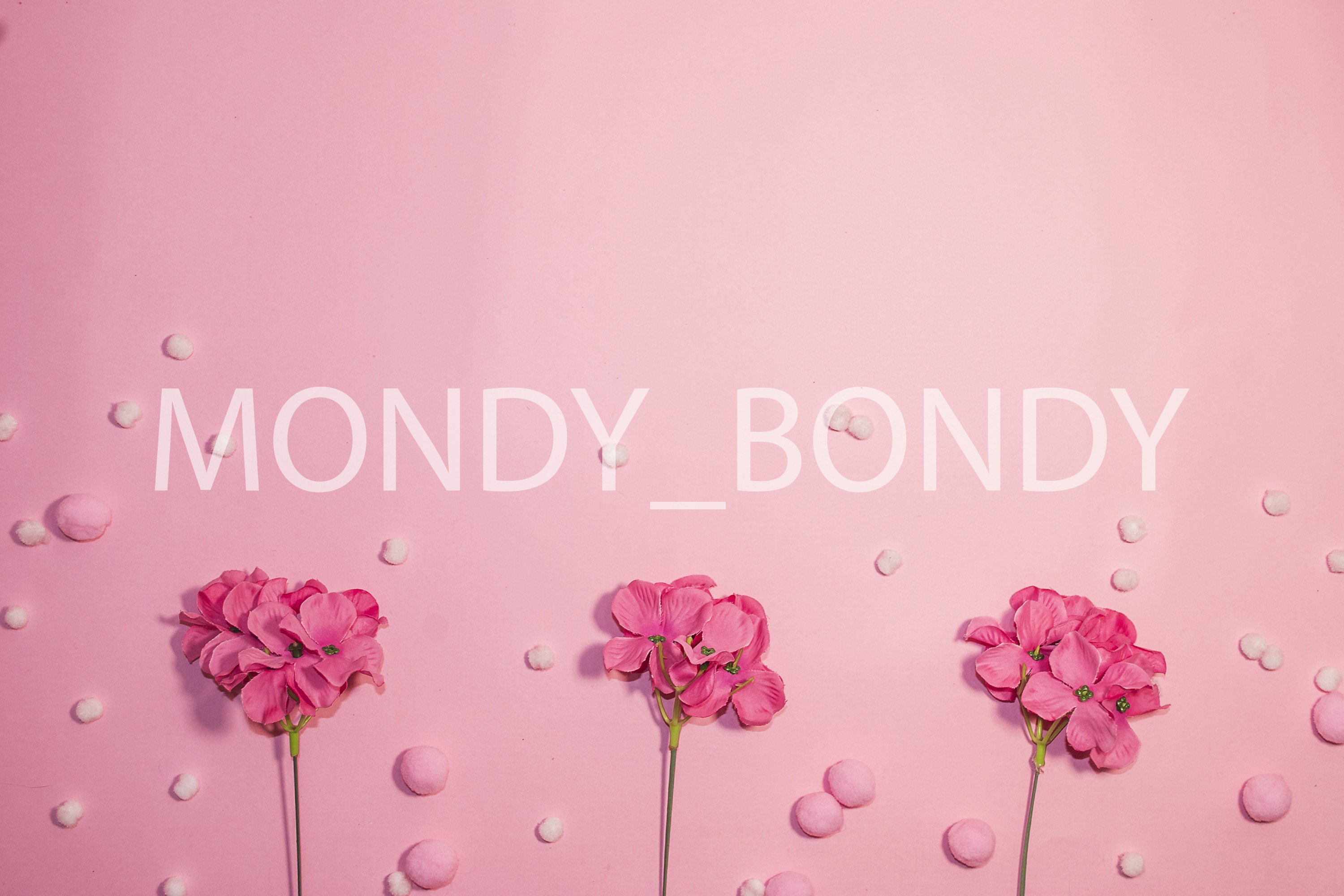 Festive background. Pink flowers on a pink background. example image 1