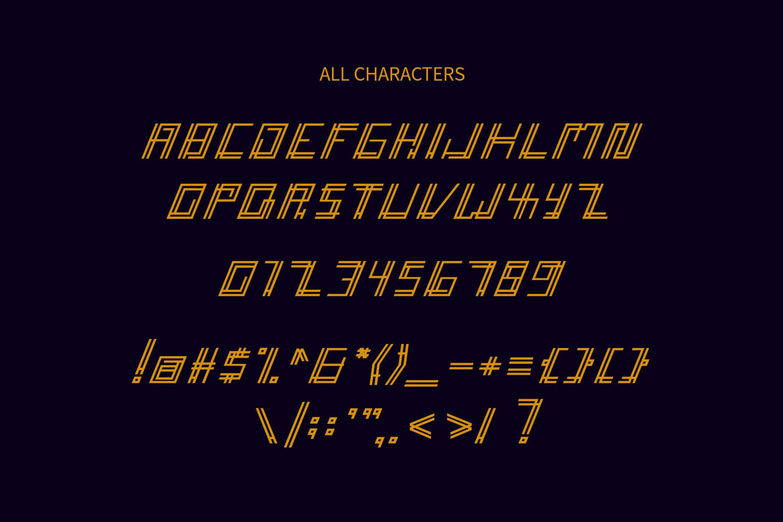 Accelera - Thin Line Decorative Font example image 4