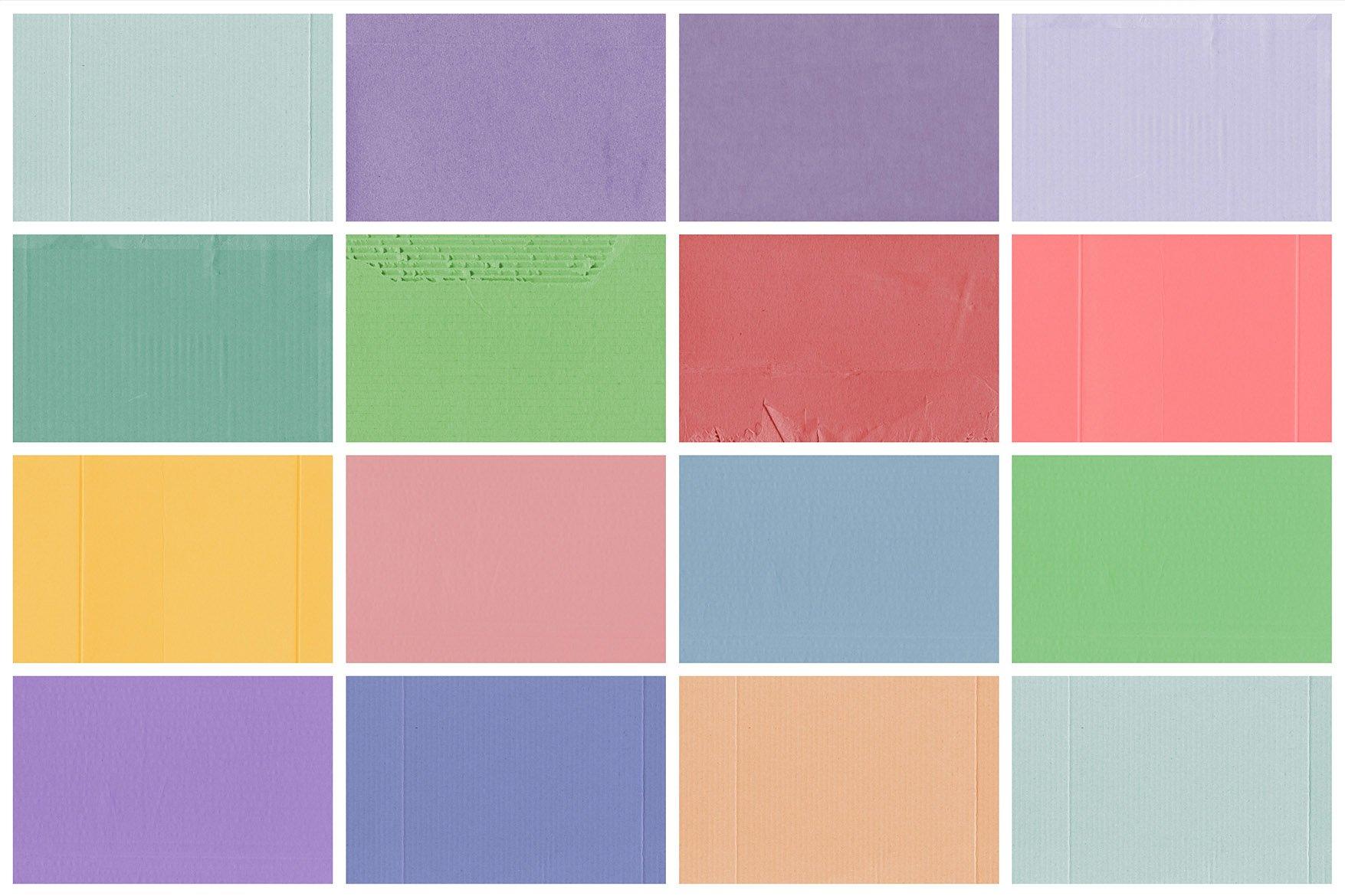Pastel Cardboard Textures 2 example image 5