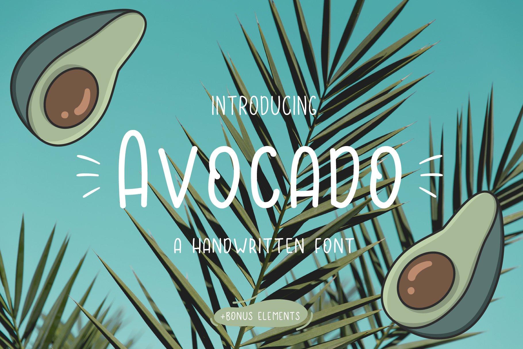 Avocado font example image 1