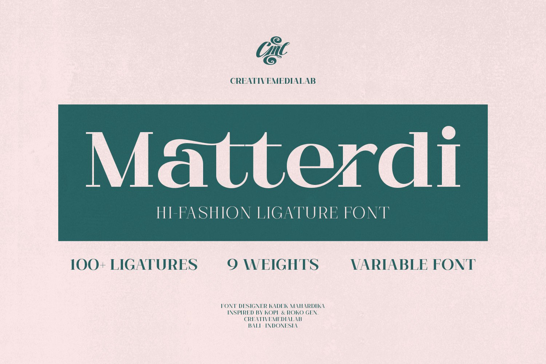Matterdi | Hi-fashion ligature font example image 1