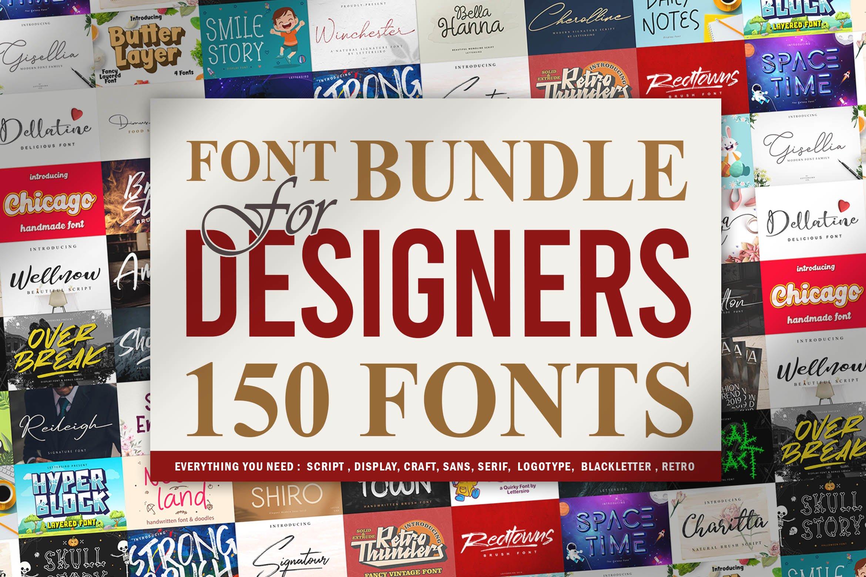 Font Bundle For Designers Vol 1